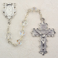 (879-CRKF) 6MM CRYSTAL ROSARY