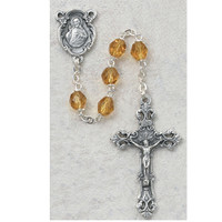 (875-TOF) 6MM TOPAZ/NOVEMBER ROSARY