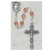(875-RSF) 6MM ROSE/OCTOBER ROSARY