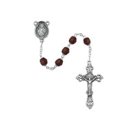 (875-GAF) 6MM AB GARNET/JANUARY ROSARY