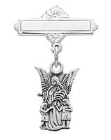 (467L) SS GUARDIAN ANGEL RF BABY PIN
