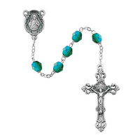 (875-EMF) 6MM AB EMERALD/MAY ROSARY