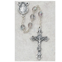 (875-AMF) 6MM AB AMETHYST/JUNE ROSARY