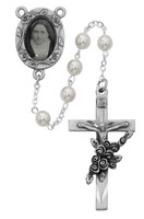 (792DF) 6MM PEARL ST THERESE  ROSARY