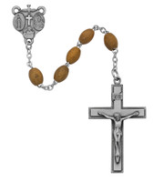 (171DF) 4X6MM OLIVE WOOD OVAL  ROSARY