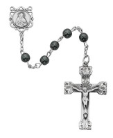 (163LF) SS 6MM GENUINE HEMATITE ROSARY