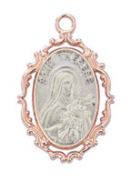 (JR799) ROSE GOLD THERESE MEDAL