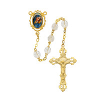 (R747F) 7MM GP CRYS O.L. SORROW ROSARY