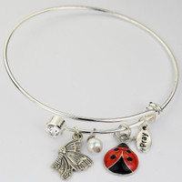 (BN904) BANGLE W/TWIST OFF CRYSTAL &