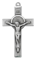 (D9137) PEWTER BENEDICT CRUCIFIX B BOX
