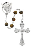 (R754F) 6MM GENUINE TIGER EYE ROSARY