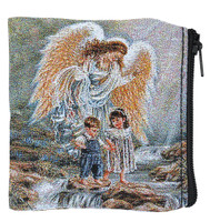 (RP13) GUARDIAN ANGEL ROSARY POUCH