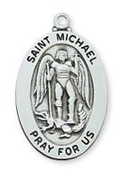 "(L461MK24) SS ST MICHAEL MEDAL 24""CH&BX"