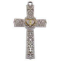 "(71-21) 6"" FILIGREE WEDDING CROSS"
