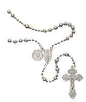 (P415R) SILVER PLATED ST. BEND ROSARY