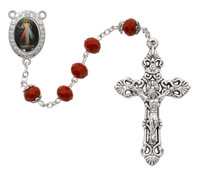 (P400R) RED DIVINE MERCY ROSARY