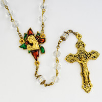 (P403R) 8MM CRYSTAL CHRISTMAS ROSARY
