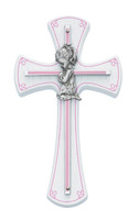 "(73-11) 7"" GIRL CROSS ON WHITE WOOD"