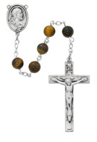 (R763LF) 6MM GENUINE TIGER EYE ROSARY