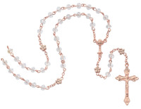 (R766W) IMM ROSE GOLD CRYSTAL ROSARY