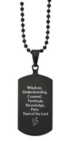 (NK201C) BLACK STAINLESS 7 GIF DOG TAG