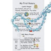 (P374FRC) KID'S BLUE CROSS ROSARY