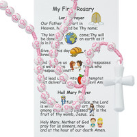 (P375FRC) KID'S PINK CROSS ROSARY