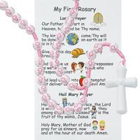(P375FRC) KID'S PINK CROSS ROSARY