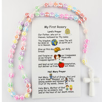 (P355FRC) KID'S MULTI COLOR CROSS ROSARY