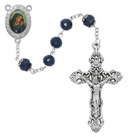 (P401F) BLUE OL SORROWS ROSARY