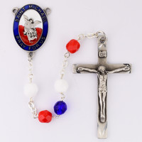(R757F) 7MM RED,WHITE & BLUE ST. MICHA