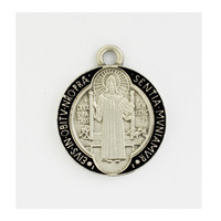 (AN821) ANTIQUE SILVER ST BENEDICT
