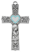 "(73-62) 6"" PEWTER BABY BOY BLUE EPOXY"