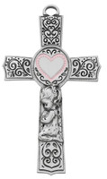 "(73-63) 6"" PEWTER BABY GIRL PINK EPOXY"