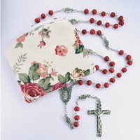 (P396P) 6MM ROSE SCENTED ROSARY