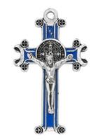 (NK221C) BLUE ST. BENEDICT PENDANT