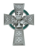 "(75-33) 4 3/4"" PEWT CELTIC COMM CROSS"