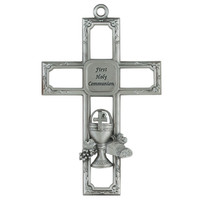 "(75-34) 6"" PEWT COMMUNION CROSS"