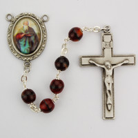 (R203DF) 7MM RED ST. MATTHEW ROSARY