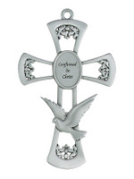 """(77-20) 6"""" PEWTER CONFIRMATION CROSS"""