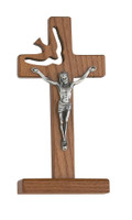"(77-25) 6"" WALNUT STANDING HOLY SPIRIT"