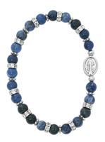 (BR149) BLUE LAPIS MIRACULOUS BRACELET