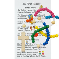 (628FRC) SMALL WOODEN KIDDEE ROSARY