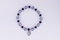 (B1013C) ST. JOSEPH PURPLE STRETCH BRAC