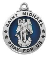 """(L827) SS ST. MICHAEL 20"""" CHAIN & BOX"""