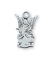 (L465BT) STERLING SIL. GUARDIAN ANGEL