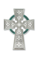 "(79-12) 4 3/4"" PEWTER CELTIC CROSS"