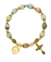 (BR49) AMAZONITE ANTIQUE GOLD RSRY BR