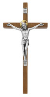 "(79-42485) 10"" WALNUT CRUCIFIX W/GLD HALO"