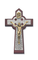 "(79-42561) 5 3/4"" CHERRY CELTIC CRUCIFIX"
